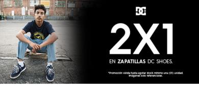 2×1 en zapatillas DC Shoes