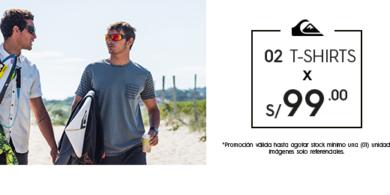 2 t-shirts x S/99